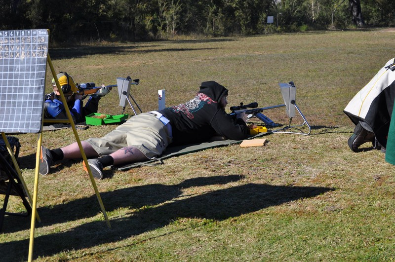 F Class Shooter at Cessnock Rifle Club Prize Shoot 2014