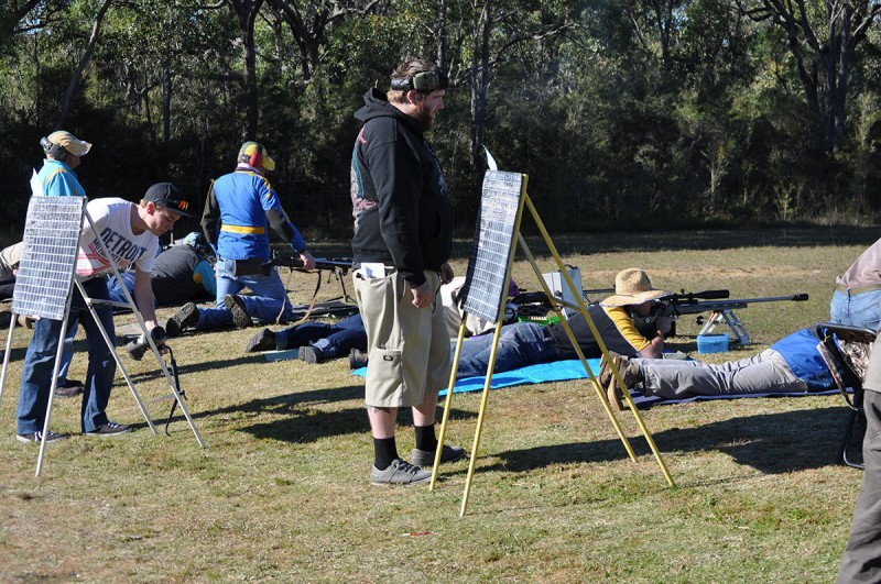 Club member at Cessnock Rifle Club Prize Shoot 2014