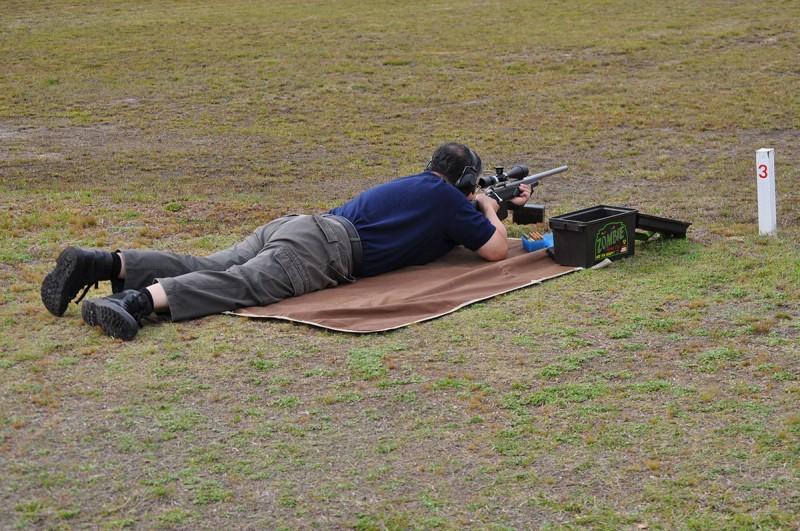 Open Class Service Rifle shooter Cessnock Rifle Range