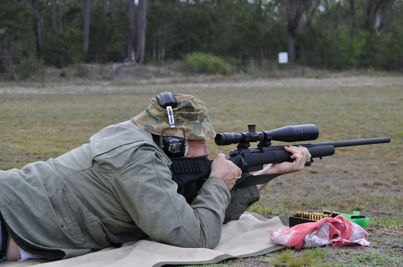 Service Rifle Open Class shooter Cessnock rifle Range