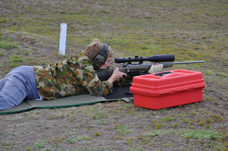 Female Service Rifle Open Class shooter Cessnock Rifle Range