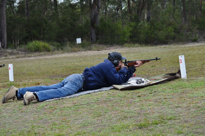 Service Rifle Shooter Cessnock Rifle Range